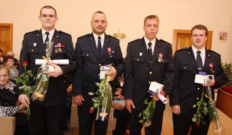 z leva Vítězslav Bujok, Rostislav Honus, Adam Jičínský, Petr Mekina